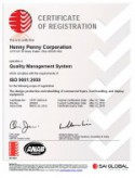 Henny Penny ISO 9001_2008_QMS